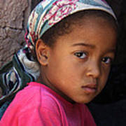 Portrait Of A Berber Girl Poster by Ralph A  Ledergerber-Photography