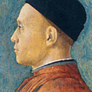 Portrait Of A Man Poster by Andrea Mantegna