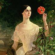 Portrait Of Sofia Andreyevna Shuvalova Poster by Karl Pavlovich Bryullov