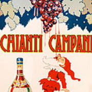 Poster Advertising Chianti Campani Poster by Necchi