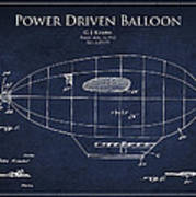 Power Driven Balloon Patent Poster by Aged Pixel