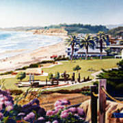 Powerhouse Beach Del Mar Lilac Poster by Mary Helmreich