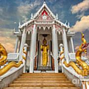 Pranburi Temple Poster by Adrian Evans