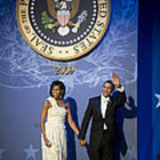 President And Michelle Obama Poster by had J McNeeley