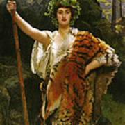 Priestess Bacchus Poster by John Collier