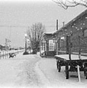 Prosser Winter Train Station  Poster by Carol Groenen