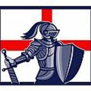 Proud To Be English Happy St George Day Card Poster by Aloysius Patrimonio