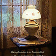 Proverbs 24 3 Through Wisdom Is An House Builded Poster by Susan Savad