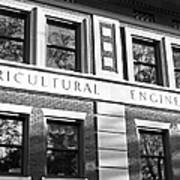 Purdue University Agricultural Engineering Poster by University Icons