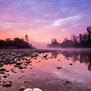 Purple Dawn Poster by Davorin Mance