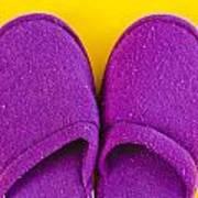 Purple Slippers Poster by Tom Gowanlock