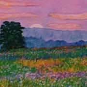 Purple Sunset On The Blue Ridge Poster by Kendall Kessler