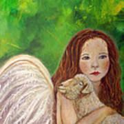 Rachelle Little Lamb The Return To Innocence Poster by The Art With A Heart By Charlotte Phillips