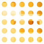 Rainbow Dots Orange Poster by Pixel Chimp