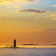 Ram Island Lighthouse Casco Bay Maine Poster by Diane Diederich
