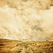 Ranch Gate Poster by Edward Fielding