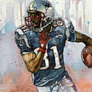 Randy Moss Poster by Michael  Pattison