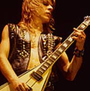 Randy Rhoads At The Cow Palace In San Francisco Poster by Daniel Larsen