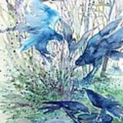 Ravens Wood Poster by Trudi Doyle