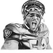 Ray Lewis Poster by Don Medina