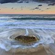 Receding Wave Stormy Seascape Poster by Katherine Gendreau