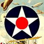 Recruiting Poster - Ww1 - Air Service Poster by Benjamin Yeager