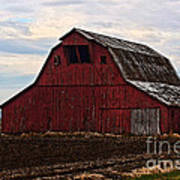 Red Barn Photoart Poster by Debbie Portwood