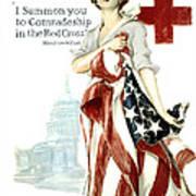 Red Cross World War 1 Poster  1918 Poster by Daniel Hagerman