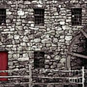 Red Door Poster by Jayne Carney