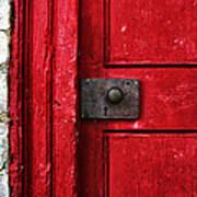 Red Door Poster by Steven  Michael