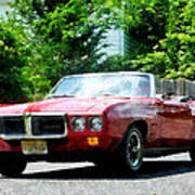 Red Firebird Convertible Poster by Susan Savad