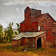 Red Mill Montana Poster by Marty Koch
