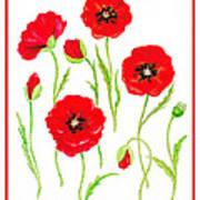 Red Poppies Poster by Irina Sztukowski