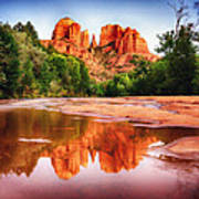 Red Rock State Park - Cathedral Rock Poster by Bob and Nadine Johnston