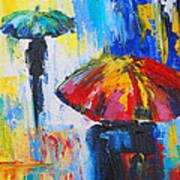 Red Umbrella Poster by Susi Franco