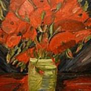 Red Velvet Poster by Louise Burkhardt