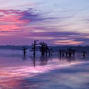 Reelfoot Lake Sunrise Poster by J Larry Walker