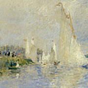 Regatta At Argenteuil Poster by Pierre Auguste Renoir