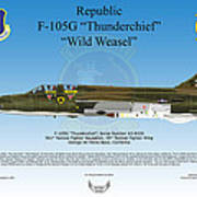 Republic F-105g Thunderchief Poster by Arthur Eggers