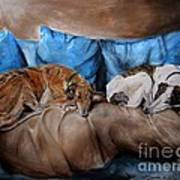 Resting Time Poster by Dorota Kudyba