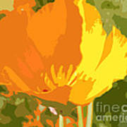 Retro Abstract Poppies 2 Poster by Artist and Photographer Laura Wrede