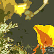 Retro Abstract Poppies 4 Poster by Artist and Photographer Laura Wrede