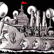 Revolutionary Ship Poster by Vitaliy Gonikman