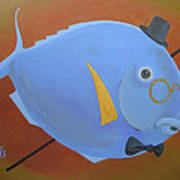 Rhapsody In Blue Poster by Marina Gnetetsky
