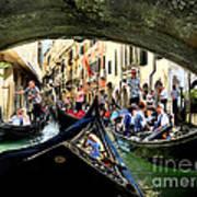 Rhythm Of Venice Poster by Jennie Breeze