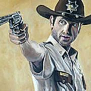 Rick Grimes Poster by Tom Carlton