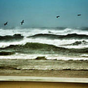 Riders On The Storm II - Outer Banks Poster by Dan Carmichael