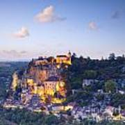 Rocamadour Midi-pyrenees France Twilight Poster by Colin and Linda McKie