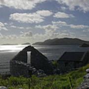 Rock Ruin By The Ocean - Ireland Poster by Mike McGlothlen