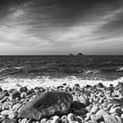 Rocky Shore Poster by Chris Thaxter